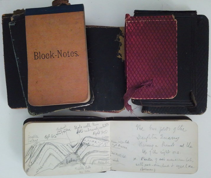 Archive notebooks, John Edward Marr Archive