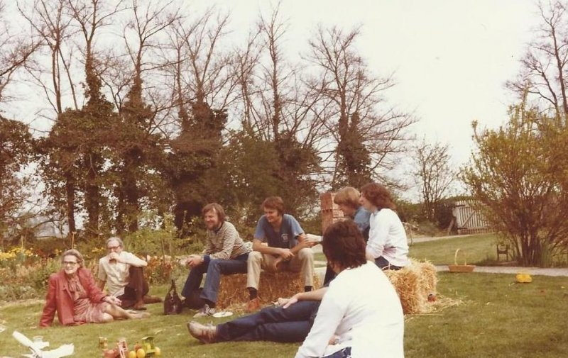 Group picknicking 1982